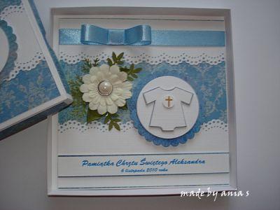 Kartka na chrzest Aleksandra  - Kartki na Chrzest - Kartki - Scrapbooking