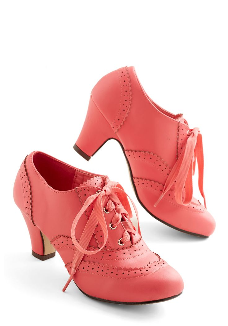 Dance Instead of Walking Heel in Pink. This item was picked by you in our Be the Buyer Program and will be sold exclusively online at ModCloth! #pink #wedding #modcloth
