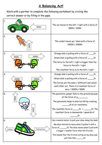 Resultant Force Worksheet