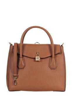 MICHAEL KORS MERCER PEBBLE BORSA 2 IN 1 A MANO E ZAINO MARRONE