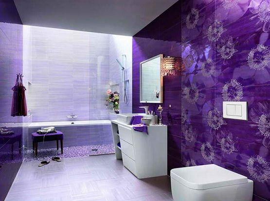 Purple bathroom color schemes | Decolover.net