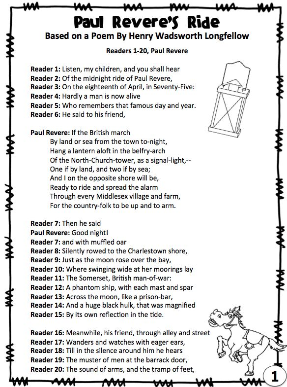 "Paul Revere's Ride Reader's Theater Script (also known as The Midnight Ride of Paul Revere). Easy and fun way to practice fluency. Great for ""after the test!"" Reader's Theater Rubric included. More Than a Worksheet $"