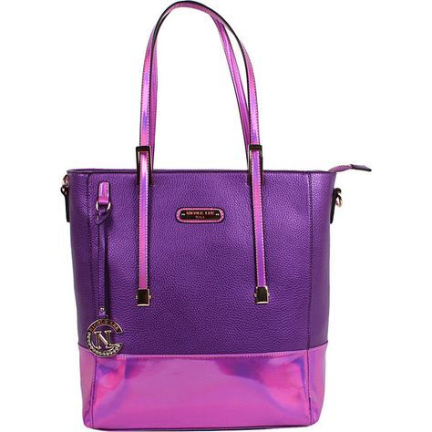 Nicole Lee Sian Hologram Shopper Bag - Purple - Totes (€60) ❤ liked on Polyvore featuring bags, handbags, tote bags, purple, tote purses, hologram tote, monogrammed purses, shopping bag and tote handbags