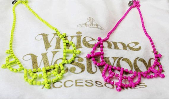 Neon Pop Candy Necklace by Myfunny on Etsy, $39.00