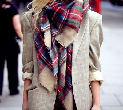 Tartan Plaid Scarf...Must have accessory for W14!