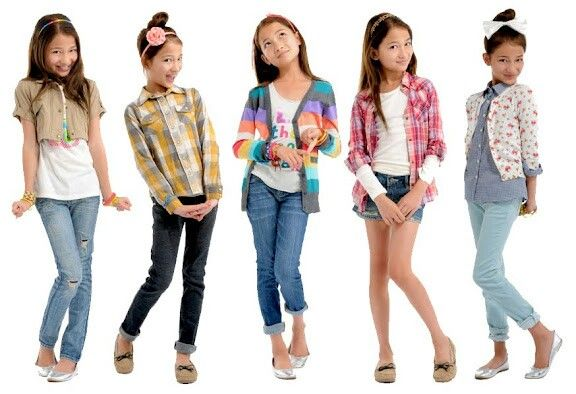okay, so it's tween fashion, but I like the different pants cuffs