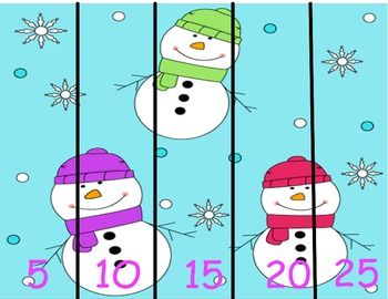 Fun winter themed puzzles to work on counting and skip counting! Only $1 for 9 puzzles! Check out my TpT page to download today!