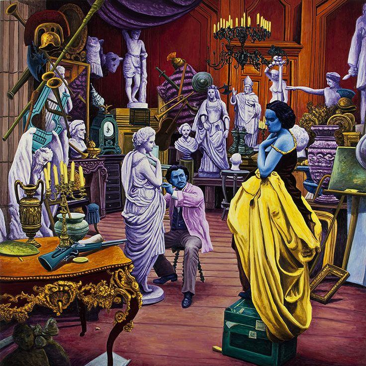 Atelier di Scultura (da fotografo non identificato) 2011, olio su lino, cm 160 x 160.