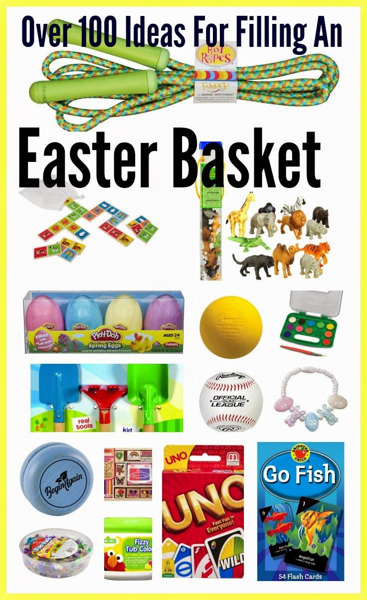 27 best easter basket ideas images on pinterest gift ideas over 100 ideas for filling an easter basket the chirping moms negle Choice Image