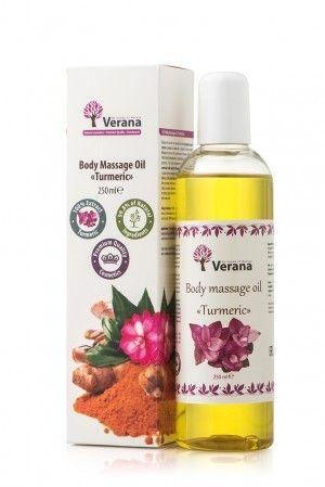 VERANA olejek do masażu KURKUMA 250ml wszystko co naturalne i ekologiczne tak jak bio żywność dostaniecie w biotojestto.pl