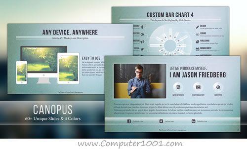 Canopus Template Powerpoint Desain Warna