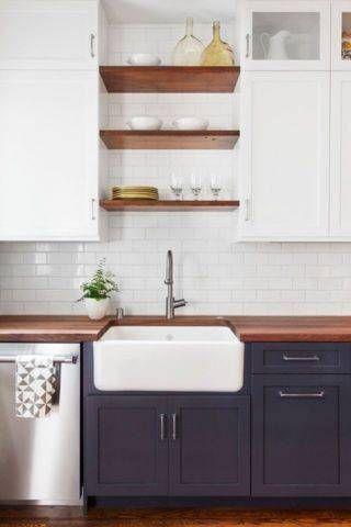 14 ontrend kitchens in navy blue apron front kitchen sinkkitchen