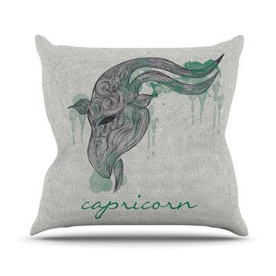 East Urban Home Capricorn Outdoor Throw Pillow