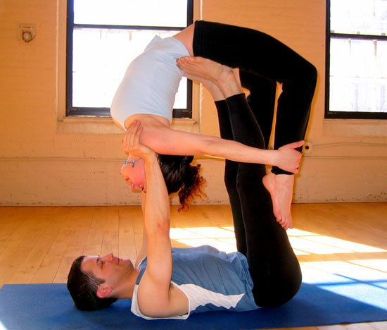Couples yoga is so amazing! No matter your partner there are many yoga positions to explore!