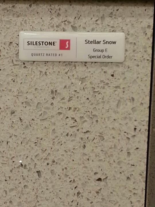 Kitchen counter tops. Silestone quartz: stellar snow ...