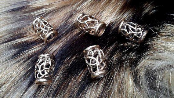 Viking kralen met Keltische knoop voor baard dreadlocks, vlecht, haar draai, brons