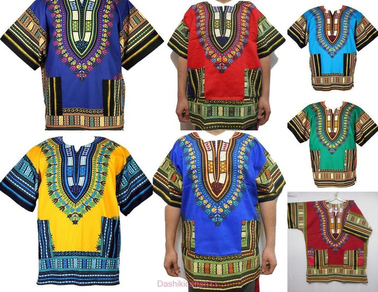 African Vintage Men Dashiki Hippie Blouse Boho Tribal Shirt Women's Blouse S M L #Handmade #Dashiki