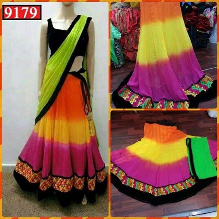 Multicolor Navratri Lehenga Choli