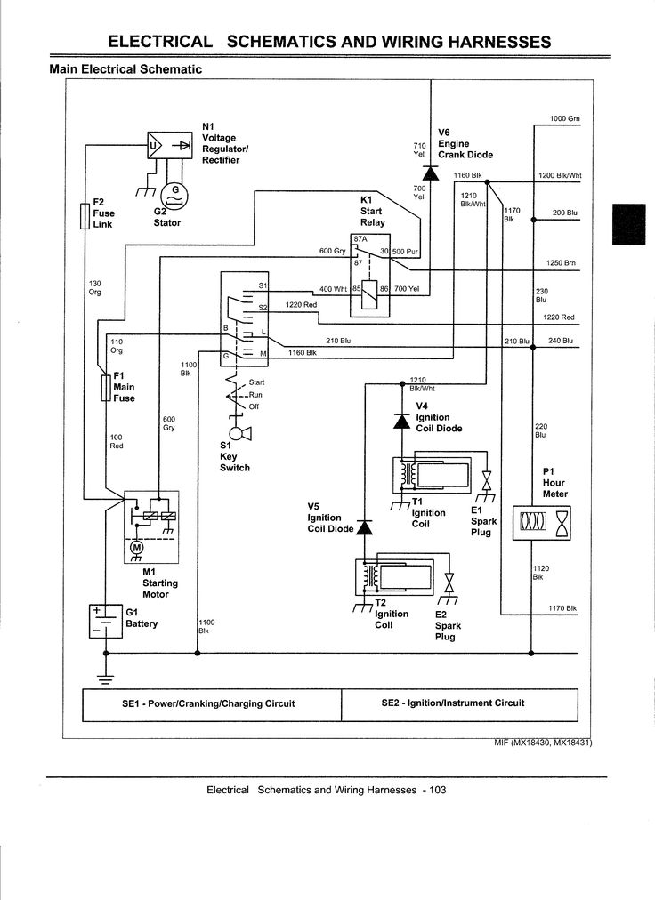Electrical Diagram For John Deere Z445