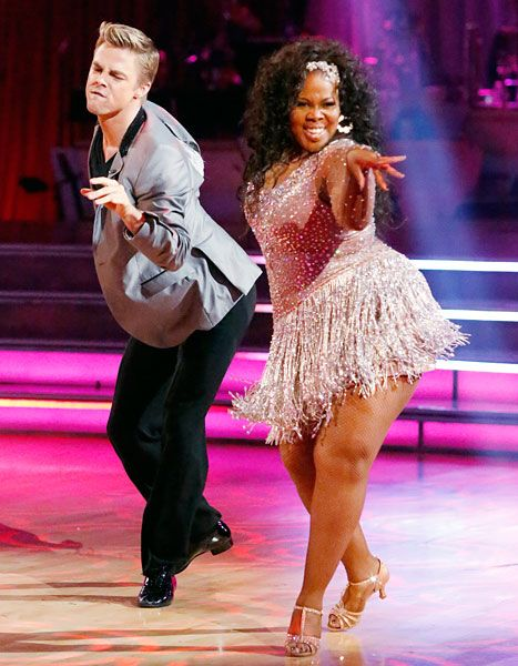 Derek Hough and Amber Riley on Dancing With The Stars