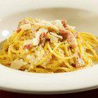 Spaghetti carbonara met roomkaas