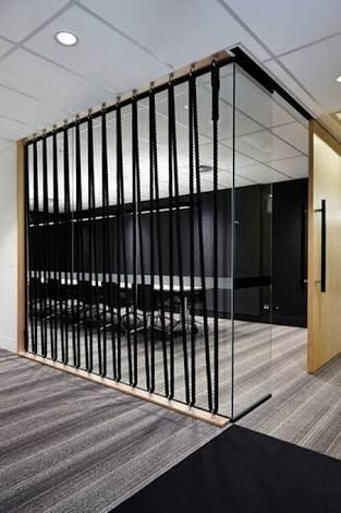 rope divider wall - Google Search