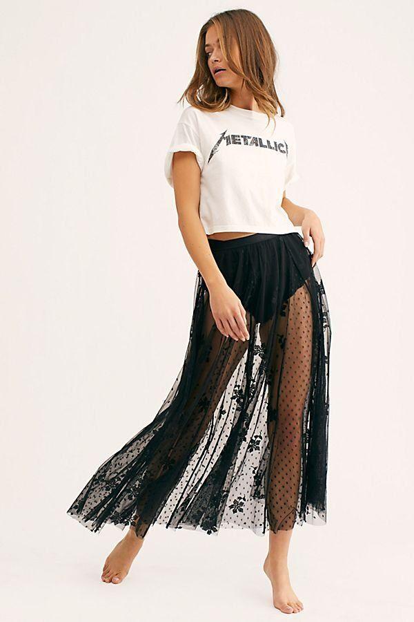 Spring Fever Embroidered Half Slip In 2019 Skirts Skirts Sheer