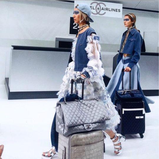 chanel xxl flap bag. chanel xxl classic flap bag in metallic calfskin \u0026 airlin runway xxl a