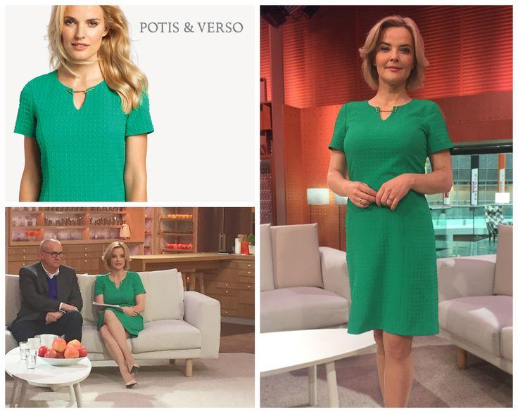 Prezenterka Monika Richardson-Zamachowska. #fashion #dress  #ss17 #greenery #style #spring