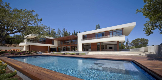 World of #Architecture: Beautiful modern Oz #House in Silicon Valley