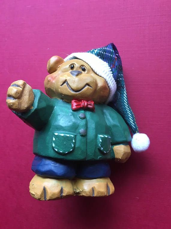 Teddy Bear Figure Christmas Decoration Standalone Country