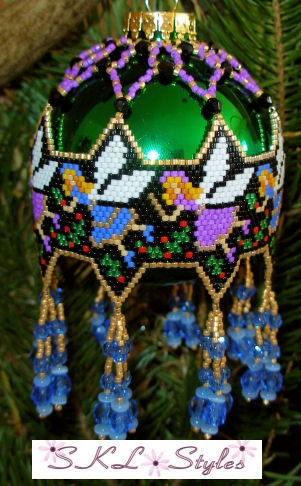 Christmas Fairies woven Delica bead Christmas by SKLstyles, $35.00