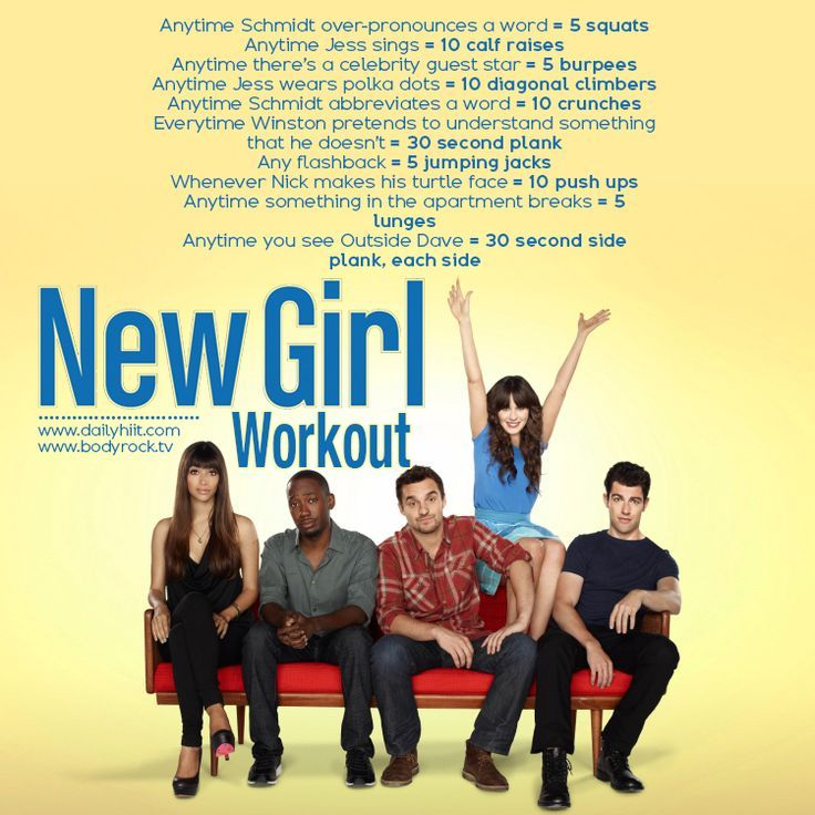OMG this is AWSOME!! I LOVE THIS TV Show!!  Workout: New Girl @Ally Squires Squires Squires Dieryck Netflix TV Workouts, TV Workout Games
