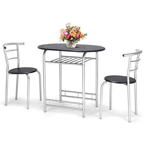 Patcharaporn 3 Pcs Bistro Dining Set Table And 2 Chairs Kitchen