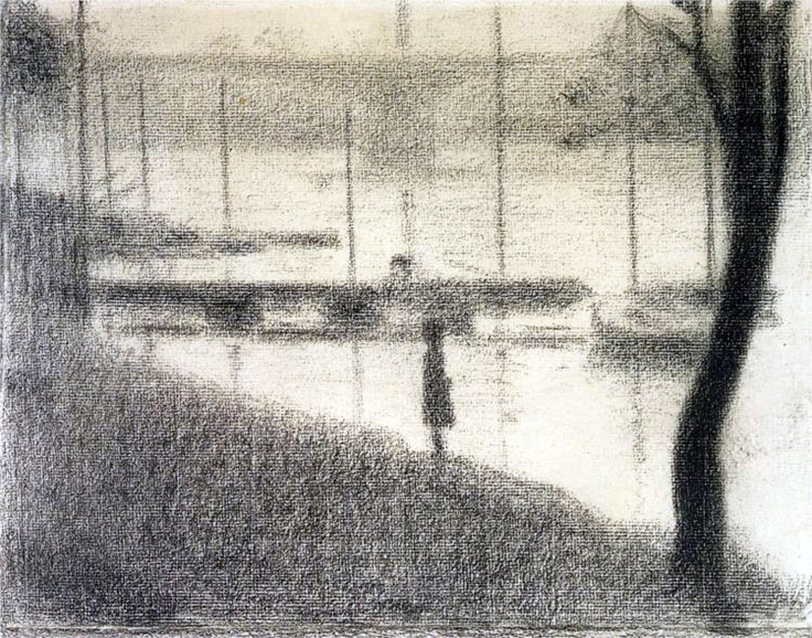 Study for the Bridge of Courbevoie, 1886, Georges Seurat