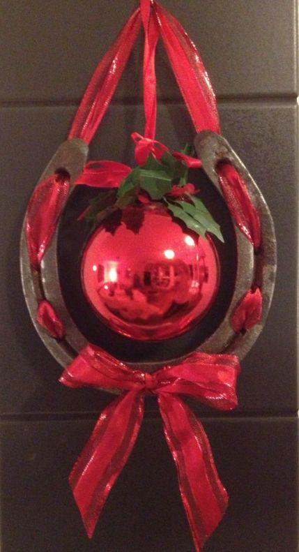 Horsenista Christmas: DIY Horseshoe Ornaments More