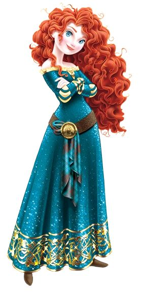 Merida in 2-D Disney Princess design