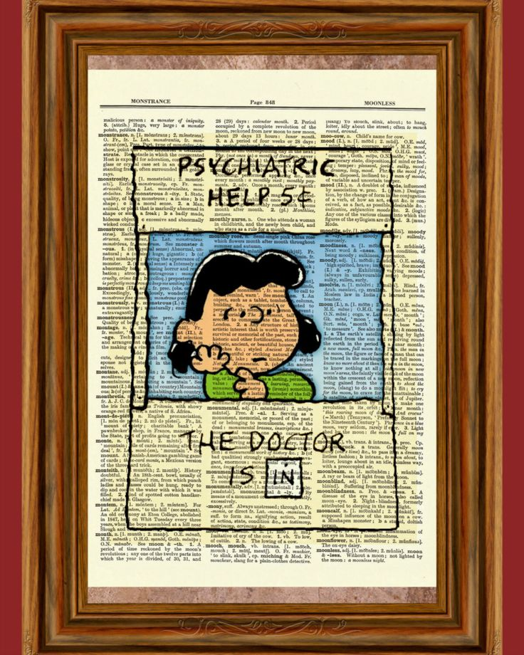 "Lucy ""psychiatric help booth 5 cents"" Charlie Brown ""Peanuts"" Upcycled Dictionary Art Print Poster by BlackCatzDesigns on Etsy https://www.etsy.com/listing/463430647/lucy-psychiatric-help-booth-5-cents"
