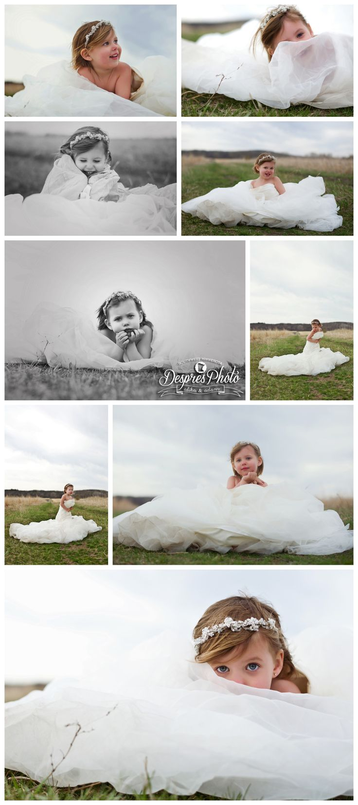 In Mommy's Wedding Dress-A Mother's simple wish- to have her daughter wear her weddings dress for portraits. The photos and the concept say it all. Pure love <3 Adam and I photographed Geri & Cory's Wedding last August. It was an honor to be able to shoot Briella's portraits in her mothers dress.- Alika Faythe