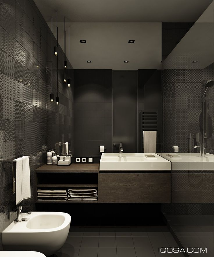 design a chic modern space around a brick accent wall: architecture bathroom toilet