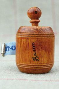 Hornbeam wooden dressmakerk's tape measure blue ribbon