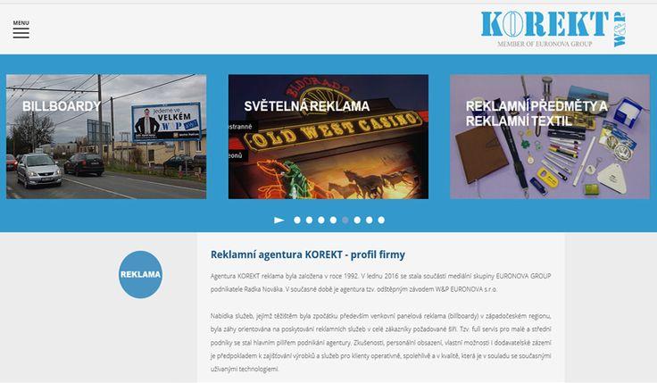WFB Media Plzeň, zhotovení webových stránek a prezentací nejen            v Plzni a okolí - reference: vytvořili jsme tyto webové stránky pro firmu Euronova, tiskárna Korekt