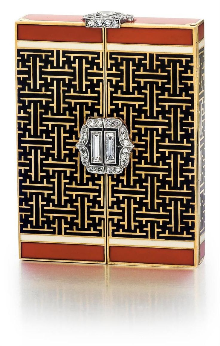 Art Deco, 18kt Yellow Gold, Enamel and Diamond Miniature Clock. Invaluable is the world's largest marketplace for art, antiques, and collectibles.