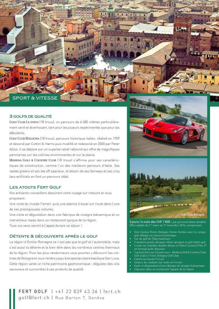 Séjour Golf Bologne by Fert Golf Genève!! #ergolf #swissgolfers #golfholidays