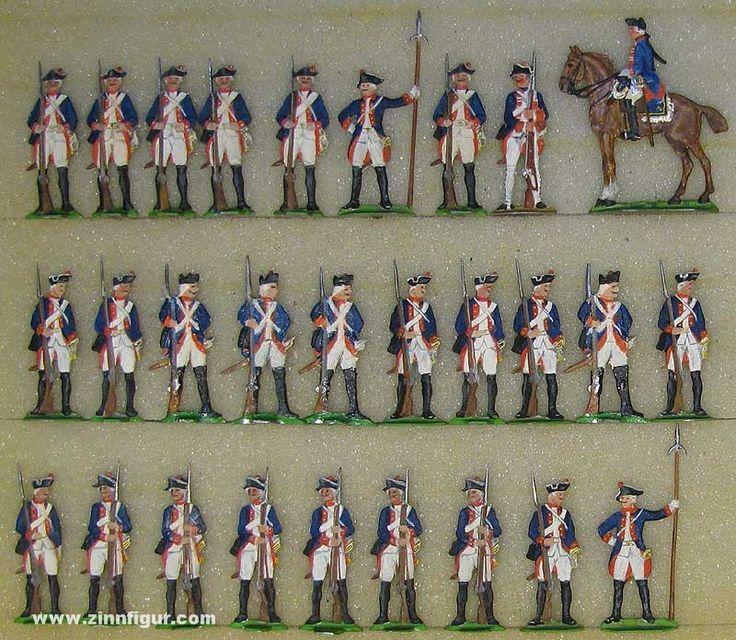 Diverse Hersteller: Musketiere in Reserve, 1756 bis 1763 Berliner Zinnfiguren & Preussisches Buecherkabinett
