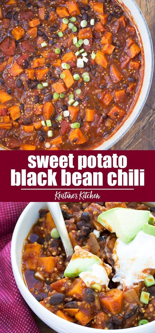 Sweet Potato and Black Bean Chili with Quinoa