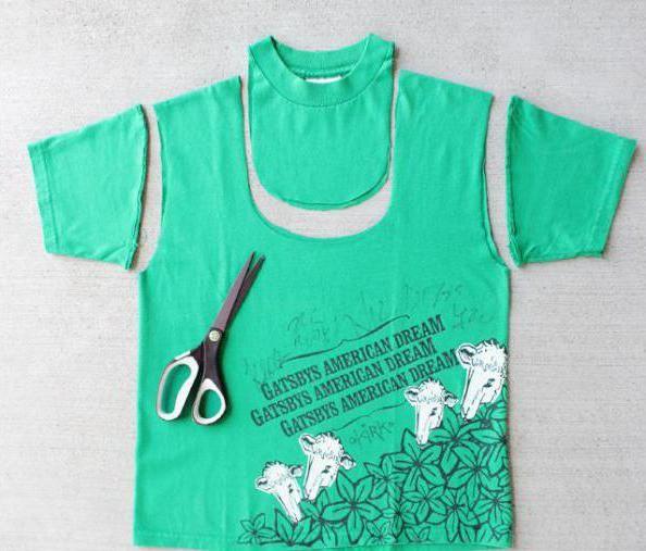 как из футболки сделать майку мужскую