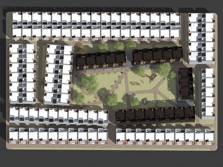 conjunto habitacional - vivienda mínima funcional.