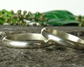 Two Stacking Rings 3mm, Sterling Silver 925, Handmade,men's band,Womens ring,Band ring