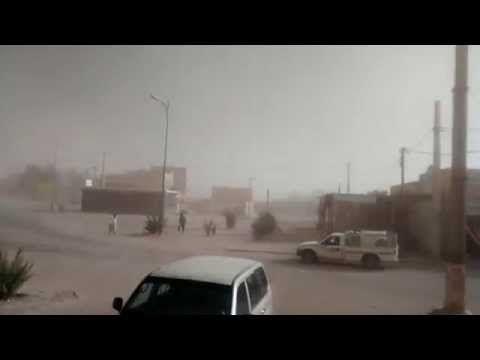 Tormenta de arena en M'Hamid, Marruecos